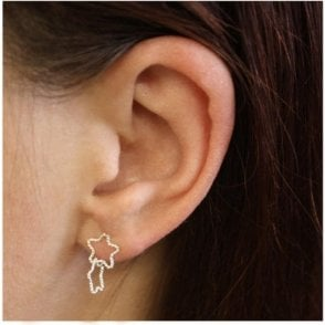 Double Wire Star Ear Studs