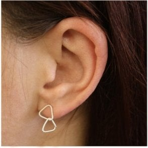 Double Wire Triangle Ear Studs