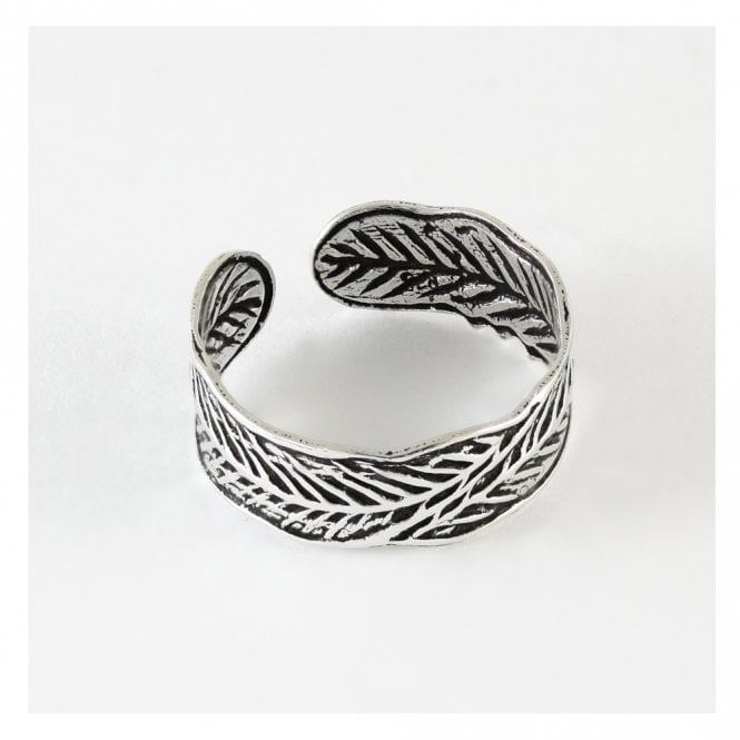 Feather Band Toe Ring