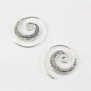 Feather Swirl Earrings - 30mm