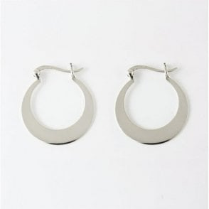 Flat Hoop Earrings - 25mm
