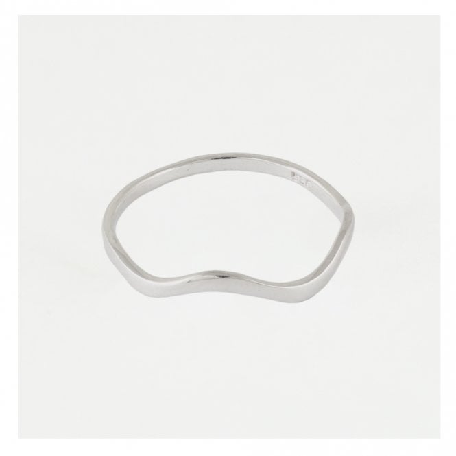 Flowing Wave Band Ring