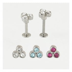 Gem Set Cluster Labret