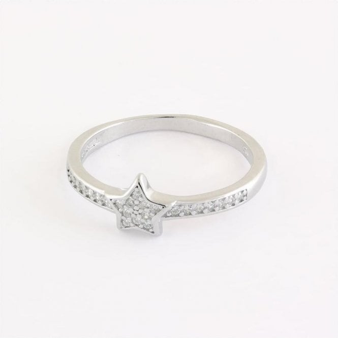 Gem Set Star Ring