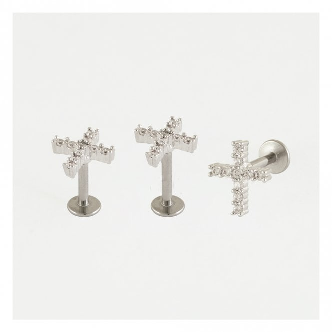 Gemset Cross Labret
