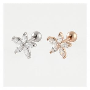 Gemset Star Flower Ear Bar
