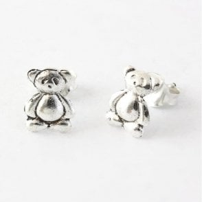 Girl's Teddy Bear Ear Studs