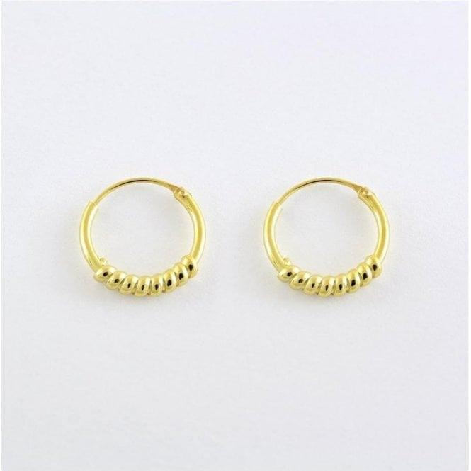 Gold 12mm Coil Hoops