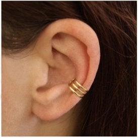 Gold 3 Band Ear Cuff