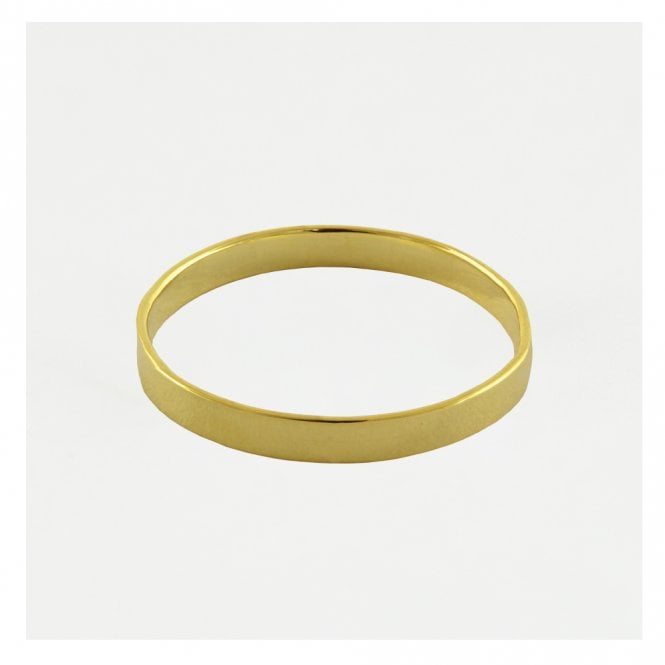 Gold 3mm Flat Band Ring