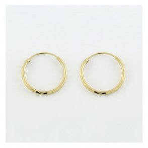 Gold Diamond Cut Hoop Earrings - 20mm