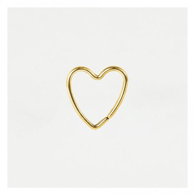 Gold Heart Daith Ring
