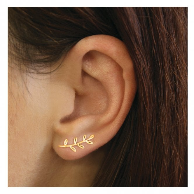 Gold Leaves Crawler Studs