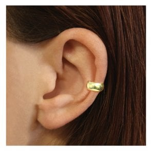 Gold Plain Rounded Band Ear Cuff