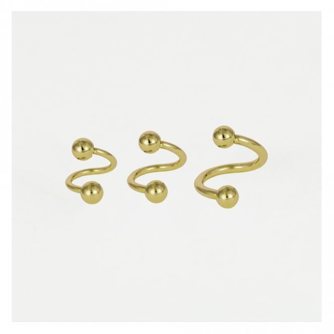Gold Spiral Barbell - 1.2mm