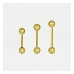 Gold Straight Barbell - 1.2mm & 1.6mm