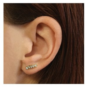 Gold Tiny CZ Ear Crawler