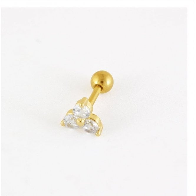 Gold Treble Gem Ear Bar