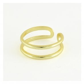 Gold Two Band Toe Ring