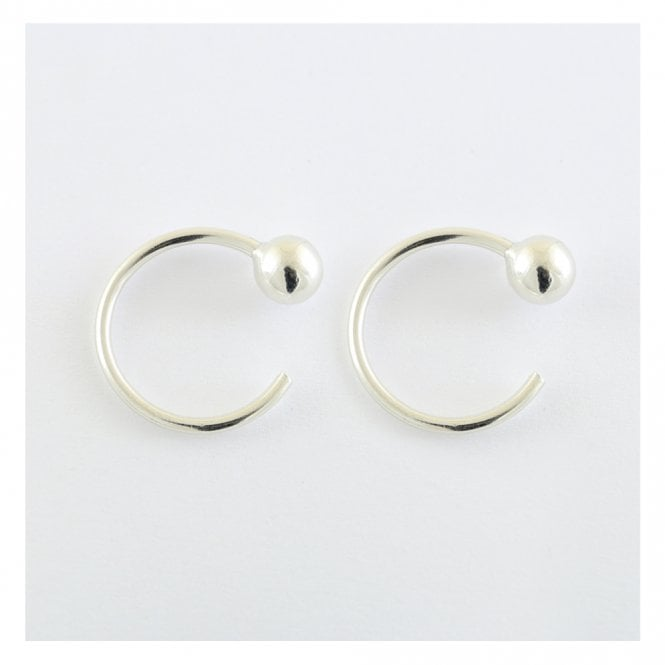 Half Ball Hoop Earrings