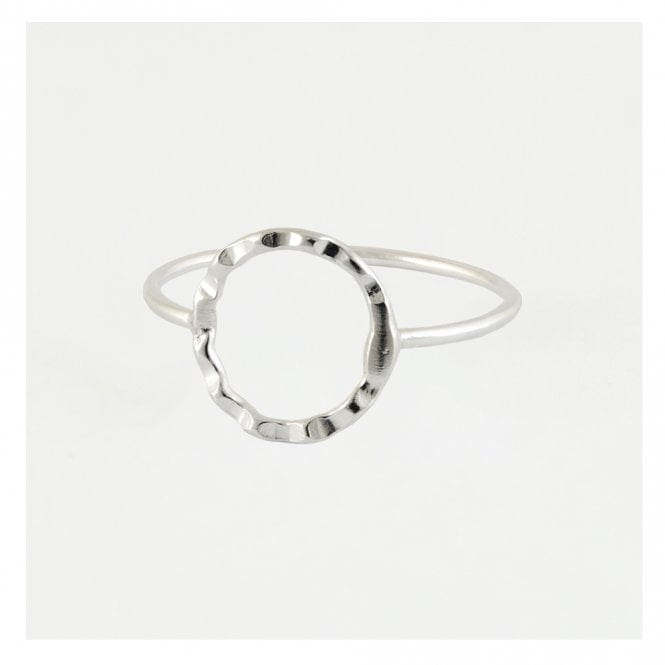 Hammered Circle Cut Out Ring