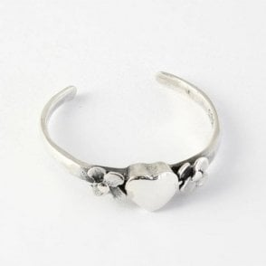 Heart & Flower Toe Ring