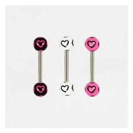 Hearts Straight Barbell
