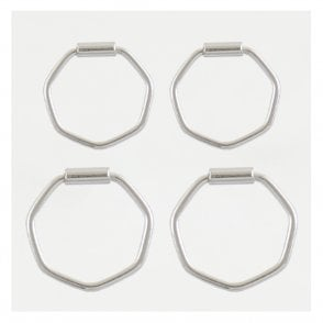 Hexagon Hoop Earrings 10-12mm