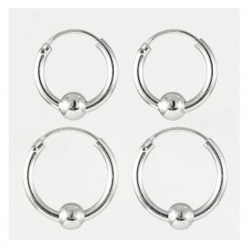 Hoop & Ball Earrings 12 - 14mm
