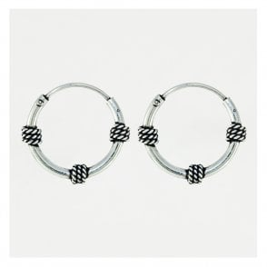 Hoop Earrings Balinese Style 12mm