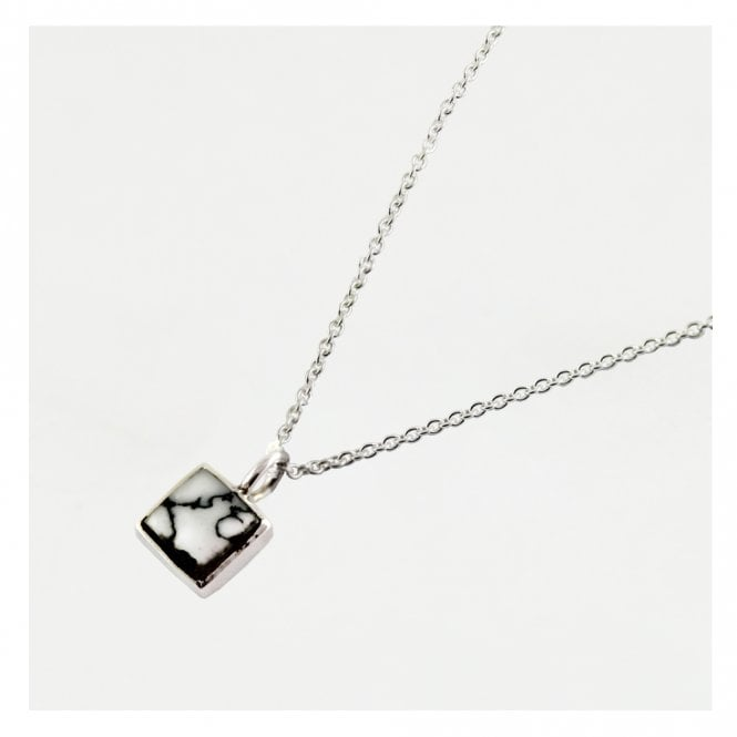 Howlite Square Necklace