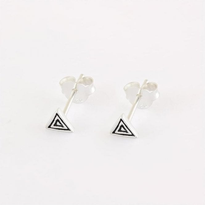Hypnotic Triangle Stud