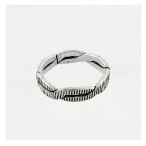 Imprinted Twisted Band Ring