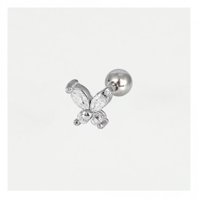 Jewelled Butterfly Ear Bar