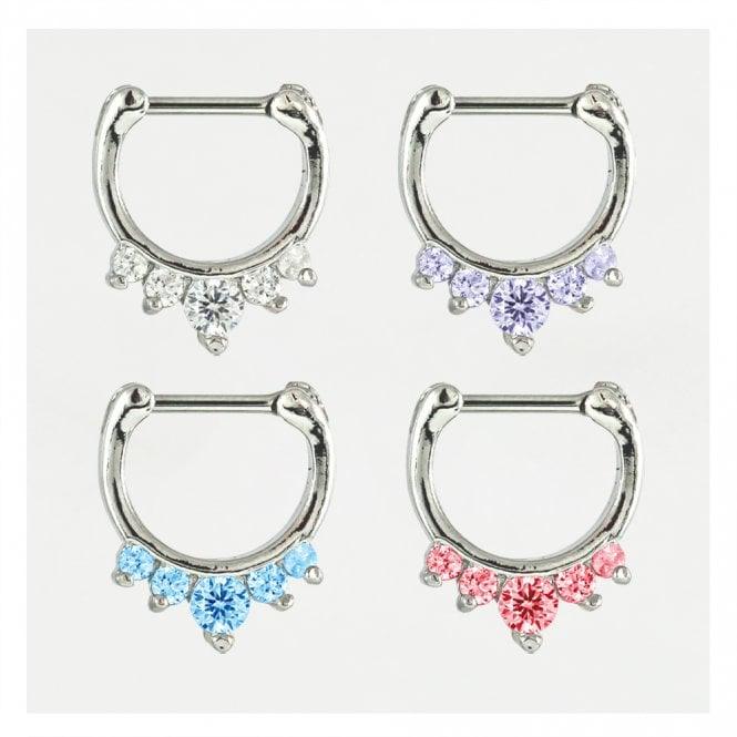 Jewelled Septum Clicker 1.2mm
