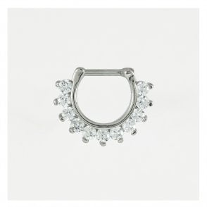 Jewelled Septum Ring 1.6mm