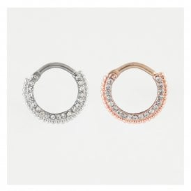 Jewelled Septum Ring - 1.6mm