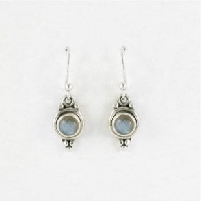 5mm Round Labradorite Earrings