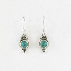 5mm Round Turquoise Earrings