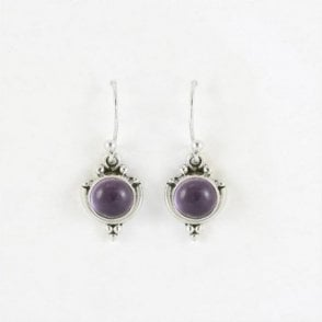 7mm Round Amethyst Earrings