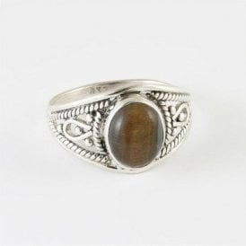 Ava Oval Tigers Eye Ring