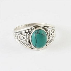 Ava Oval Turquoise Ring