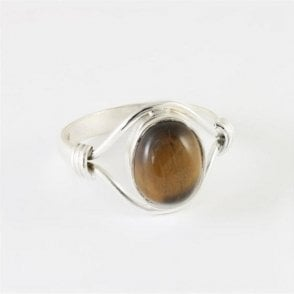 Esme Oval Tigers Eye Ring
