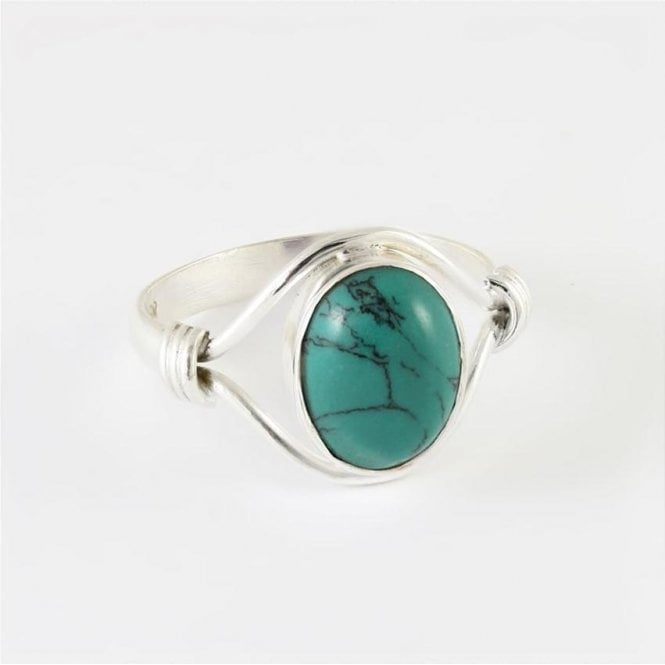 Jo Bali Esme Oval Turquoise Ring