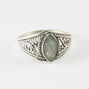 Faceted Marquise Labradorite Ring