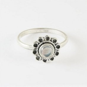 Flower Labradorite Ring