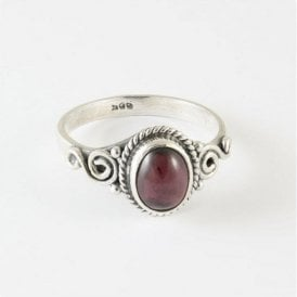 Lila Oval Garnet Ring