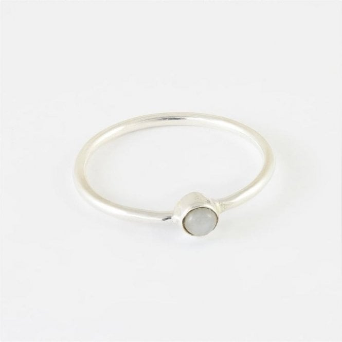 Jo Bali Little Round Rainbow Moonstone Ring