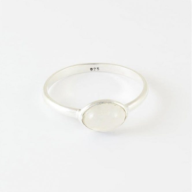 Jo Bali Mae Oval Rainbow Moonstone Ring