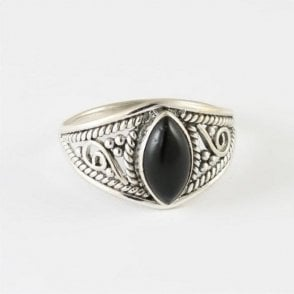 Marquise Black Onyx Ring